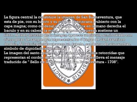 Signos y símbolos de la Universidad de San Buenaventura.
