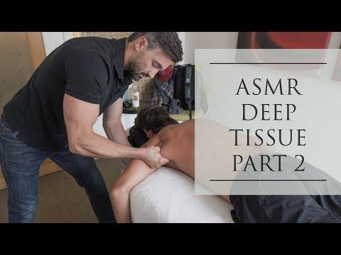 ASMR Deep Tissue Massage Professional Athlete No Talking Part 2  (Background Noise)