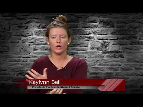 Voice of Rio Grande- Dr. Johnston w/Kaylynn Bell, Student Senate President