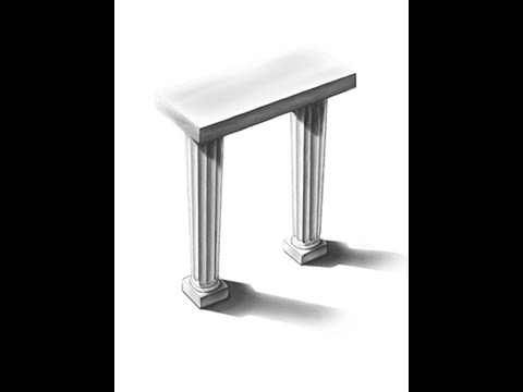How to draw Greek Columns in 3D