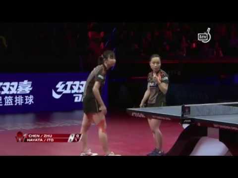 2017スウェーデンOP 伊藤美誠/早田ひな vs 陳夢/朱雨玲(中国)ダブルス決勝