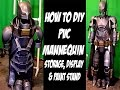 How to PVC Stand for storing, Painting EVA foam armor Cosplay Costumes Cheap and Easy