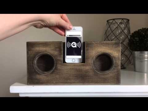 DIY Wooden Phone Amplifier/Speaker (no cord or batteries needed)