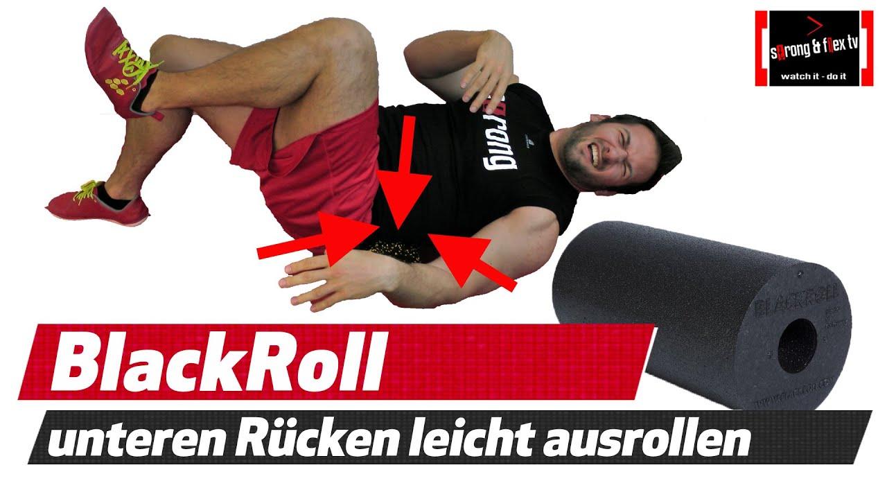 Ganz und zu Extrem BLACKROLL- Rückenschmerzen - Anfänger - Übung - schmerzfrei rollen @LG_24