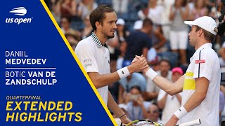 Daniil Medvedev vs Botic Van De Zandschulp Extended Highlights