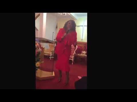 Apostle Jackie Gilbert -Grant preaching hard