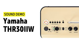 Yamaha THR30IIW - Sound Demo (no talking)
