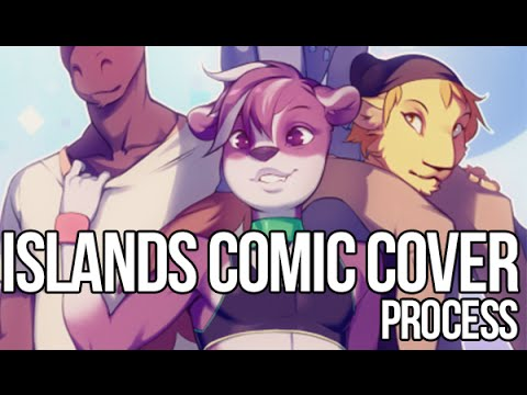 Islands Comic Cover Process by Doxy