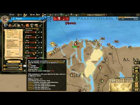 Mis-plays of EU3: DW Phoenix mod as Ancient Egypt - Part 1