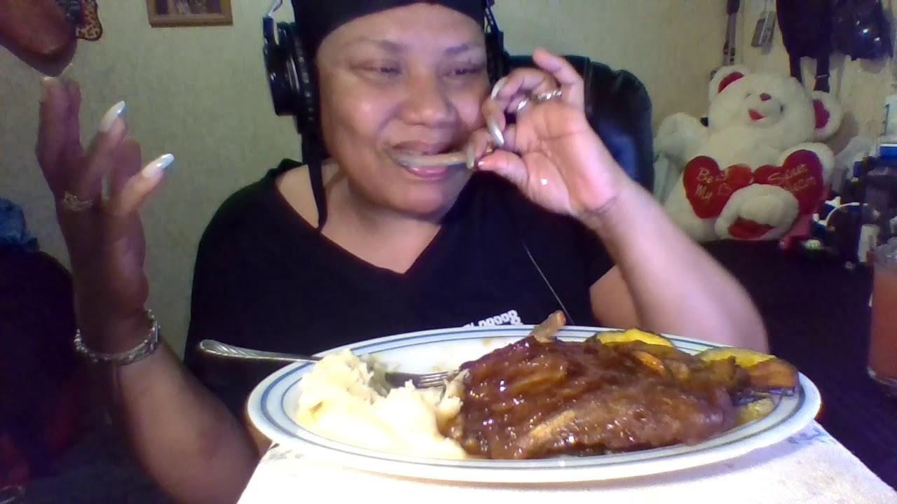 Ribs mashed potatoes zucchini #Mukbang #ASMR #tastysensation #먹방 💋
