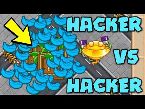 HACKER VS HACKER :: 1,000,000 LIVES! The ULTIMATE 100x FARM LIVES HACK! - Bloons TD Battles