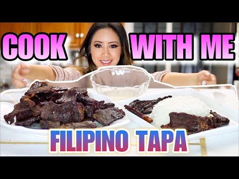 HOW TO COOK BEEF TAPA FILIPINO RECIPE -  FILIPINO BEEF TAPA - COOK WITH ME  | TIN IN THE KITCHEN #2