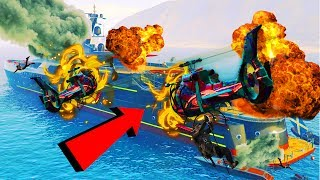 CRASHING HELICOPTERS INTO YACHTS!!! GTA 5 FUNNY MOMENTS