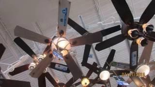 ceiling fans at Menards plus street lights outside