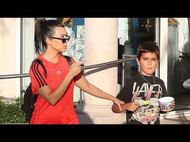 See Kourtney Kardashian Tell A Pap To Back Off!!!