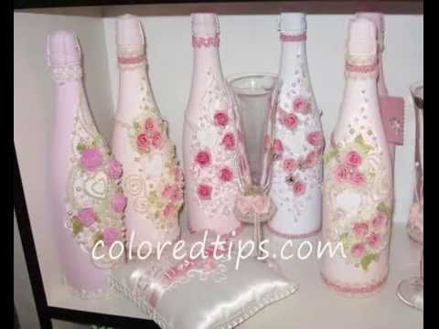 Decorative Champagne Bottles Brilliant Decorate A Champagne Bottle For Weddings  Youtube Decorating Design