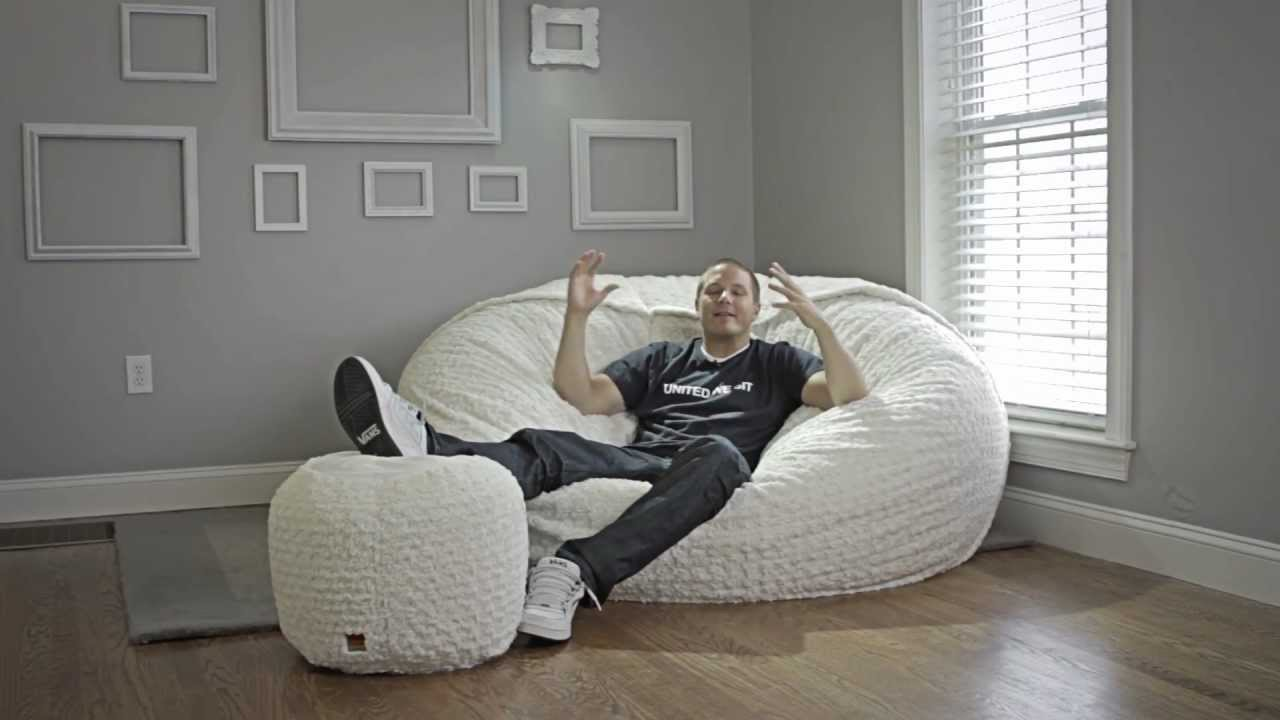 Watch on oversized bean bag chairs