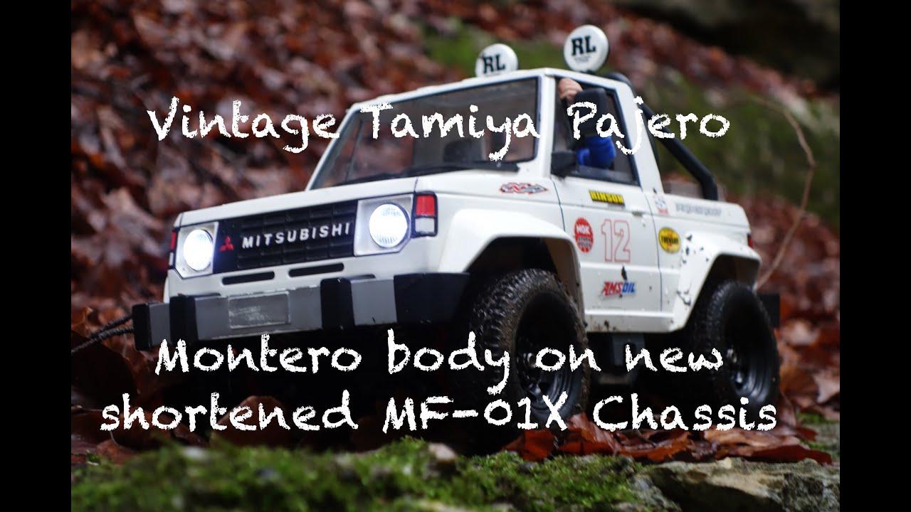 Vintage Tamiya Pajero Montero on new shortened MF-01X ...