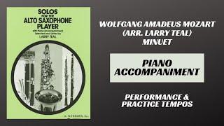Wolfgang Amadeus Mozart (arr. Teal) – Minuet (Piano Accompaniment)