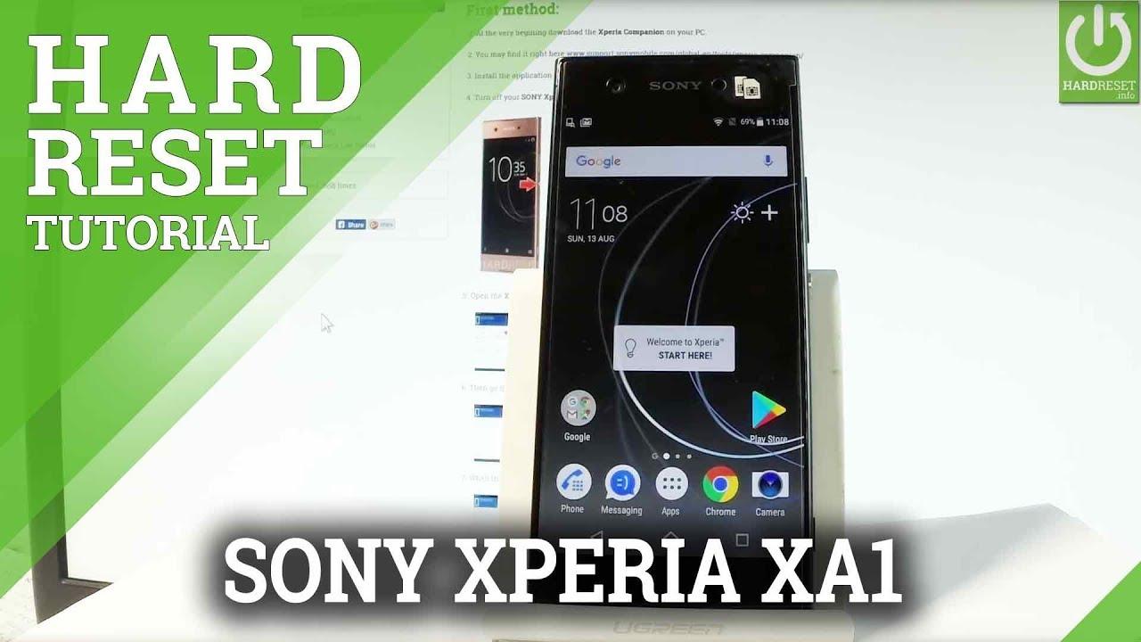 How to Hard Reset SONY Xperia XA1 - Reset Code / Format / Restore