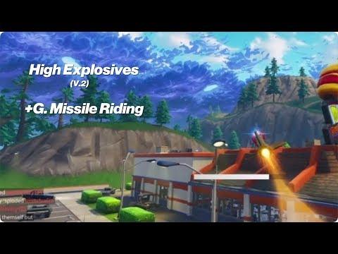 Guided Rocket Riding!!  Fortnite | High Explosives v.2