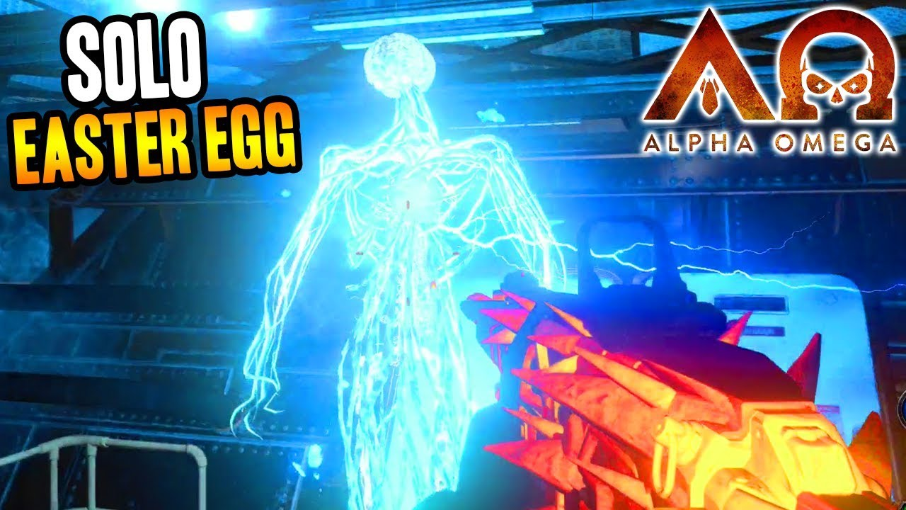 `ALPHA OMEGA` SOLO EASTER EGG COMPLETE GAMEPLAY! (Black Ops 4 Zombies DLC 3)