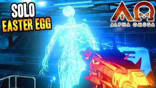 """""""ALPHA OMEGA"""" SOLO EASTER EGG COMPLETE GAMEPLAY! (Black Ops 4 Zombies DLC 3)"""