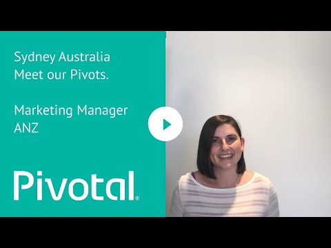 Meet Our Pivots. Marketing Manager ANZ, Sydney, Australia