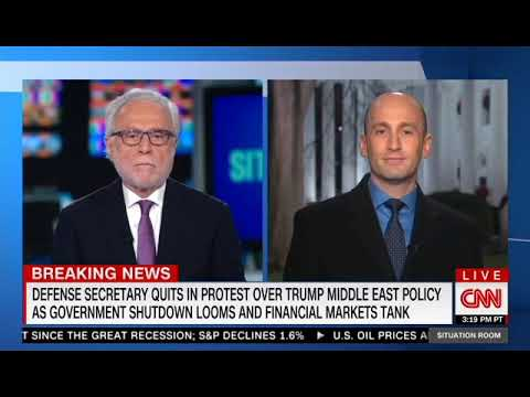 Stephen Miller Clashes With Blitzer Over Mattis Resignation, Syria Withdrawal