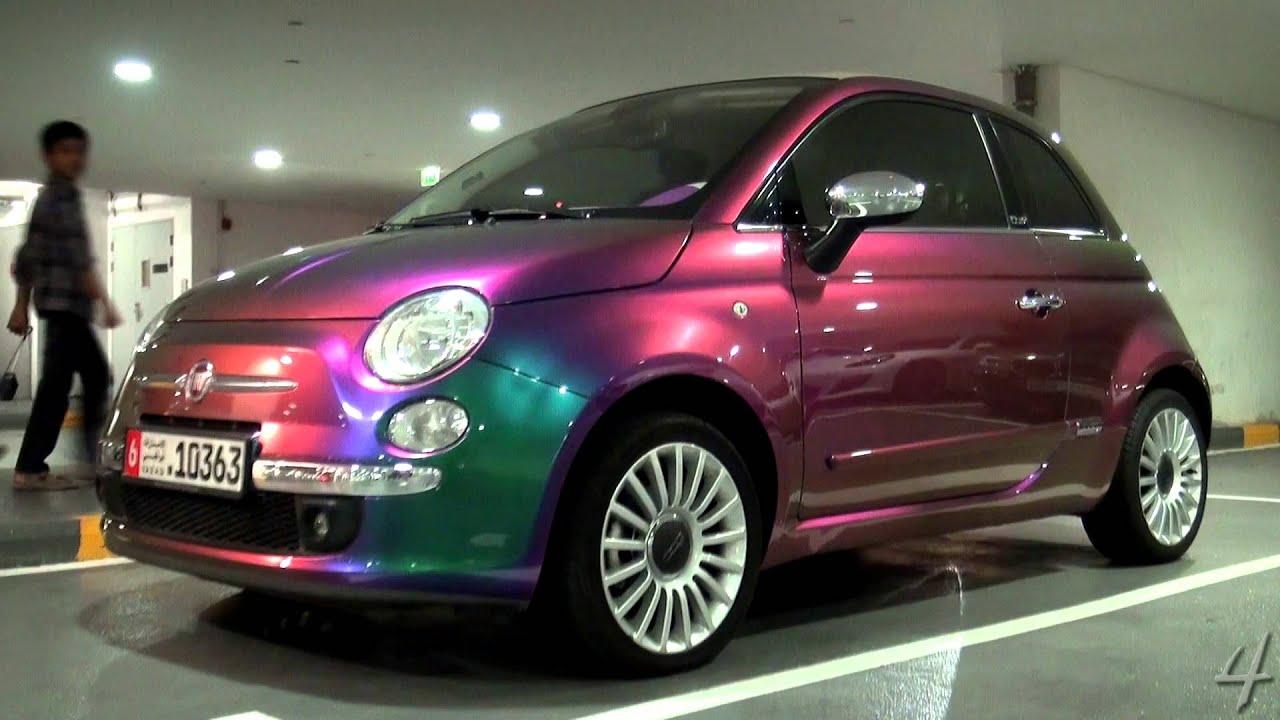 Crazy Flip Colour Fiat 500 Youtube