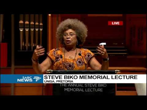 Angela Davis delivers the 17th Steve Biko Memorial Lecture