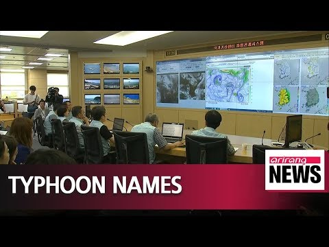 How Typhoons Get Their Names