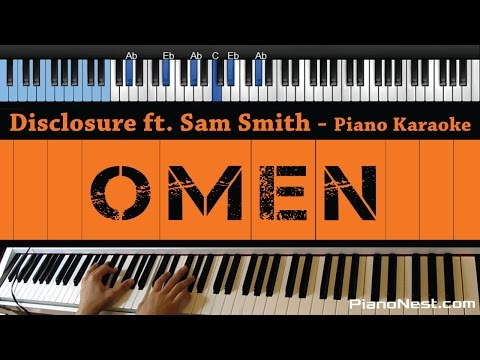 Disclosure ft. Sam Smith - Omen - LOWER Key (Piano Karaoke / Sing Along)