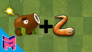 Plants vs Zombies Fusion Hack Animation Coconut Cannon Slither.io