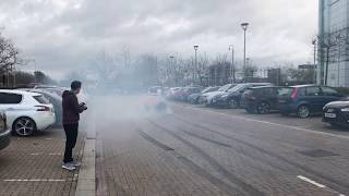 LOUD Toyota Supra EPIC BURNOUT(How To Leave A Car Show In Style)
