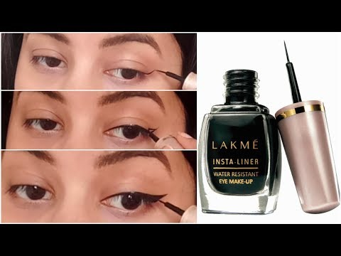 How To Apply Winged Eyeliner Using Lakme Insta Liner || Riya Beauty