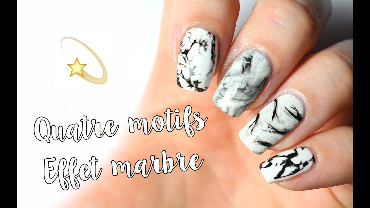 quatre fa ons de faire un nail art effet marbre youtube. Black Bedroom Furniture Sets. Home Design Ideas