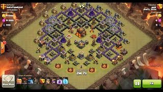 Clash of Clans TH10 vs TH10 Lava Hound, Balloon & Minion (Lavaloonion) Clan War 3 Star Attack