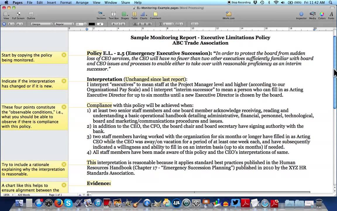 policy advocacy writing sample
