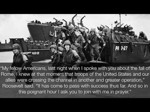 Franklin D  Roosevelt-D Day Prayer