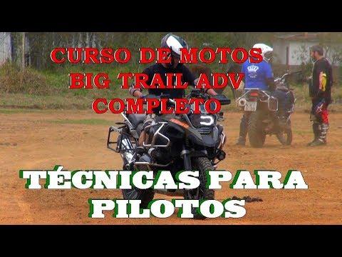 PILOTANDO UMA BIG TRAIL CURSO DE PILOTAGEM MOTOS GRANDES  NO ON ROAD E NO OFF  VIDEO COMPLETO