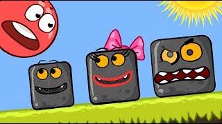 """Мультик - Красный Шарик и Чёрные Квадраты - """"Дружба"""" ! Мультфильм игра для детей от Спуди ! Red ball"""