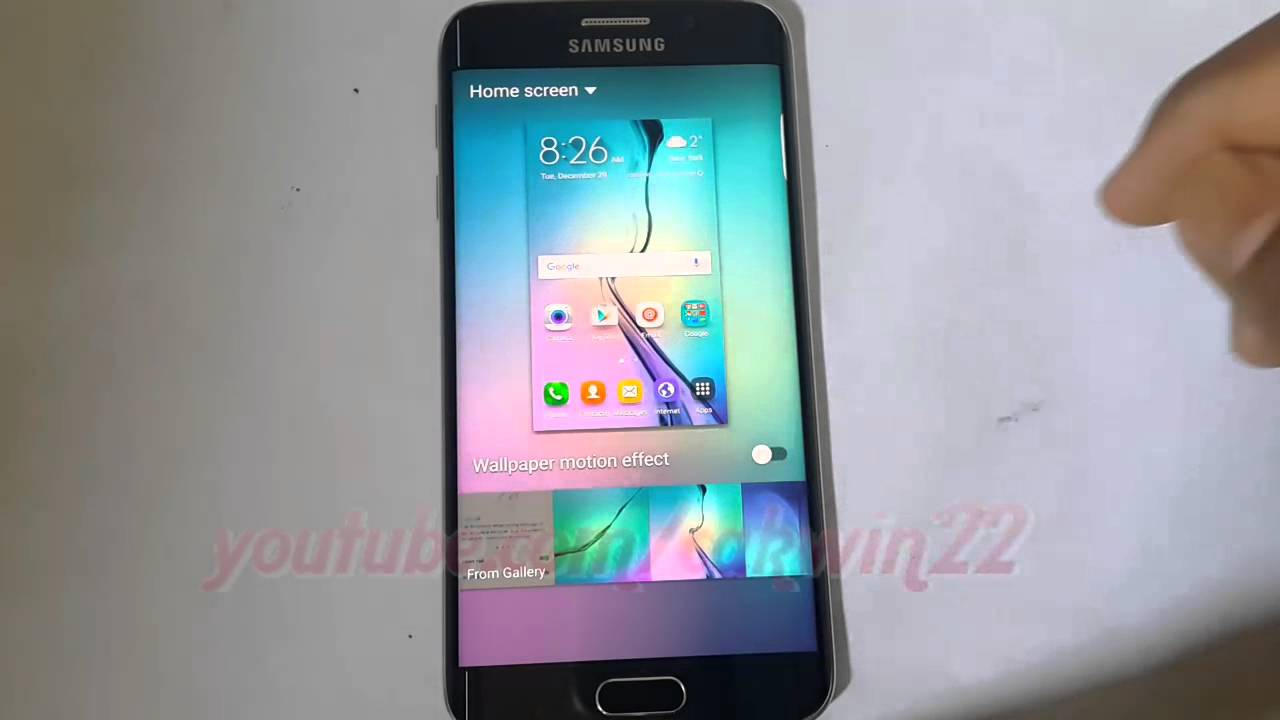Android Lollipop How To Enable Or Disable Wallpaper Motion Effect On Samsung Galaxy S6 Youtube