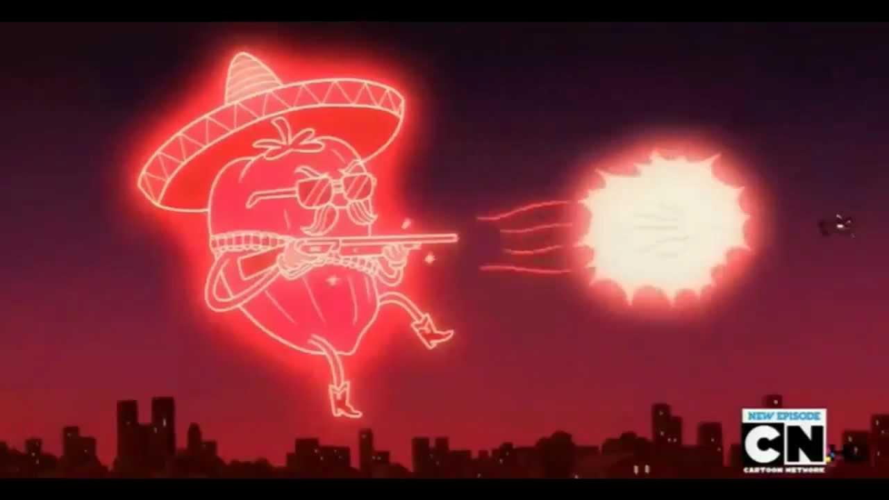 regular show el diablo pwns hector with fus ro dah