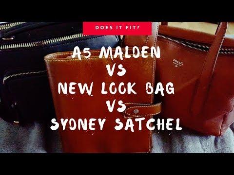 [Does it fit?] Malden A5 vs. New Look Bag vs. Fossil Sydney Satchel