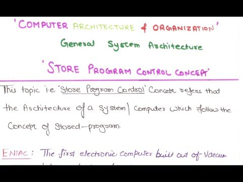 02- what is stored program concept in Computer Architecture And Organization in hindi