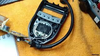 ремонт кнопки РТТ на тангенте радиостанции Мегаджет 555