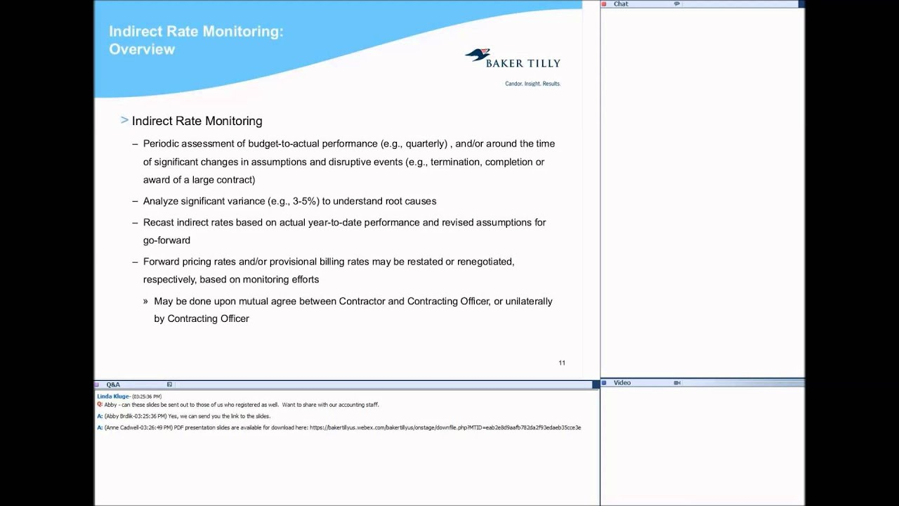 Managing Indirect Rates