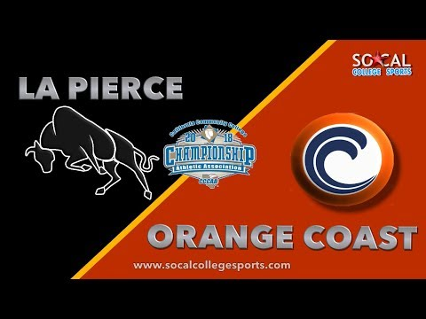2018 CCCAA Men's Volleyball Championship: LA Pierce vs Orange Coast - 4/28/18 - 7pm