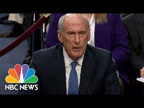 Intel Chiefs Dan Coats, Rogers Are Asked If Donald Trump Requested They Influence Comey   NBC News